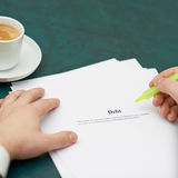 Marking words in a debt definition Royalty Free Stock Image