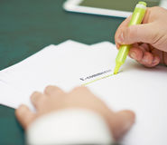 Marking words in a e-commerce definition Stock Image