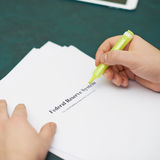Marking words in a federal reserve system Royalty Free Stock Image