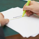 Marking words in a focus group definition Royalty Free Stock Photo