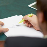 Marking words in a government definition Stock Image