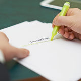 Marking words in an interest rate definition Royalty Free Stock Image