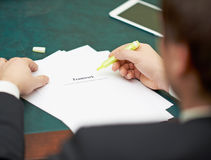 Marking words in a teamwork definition Royalty Free Stock Photo