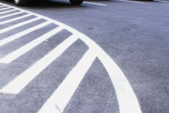 Markings on asphalt at car park area Royalty Free Stock Photos