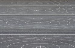 Markings of asphalt curling alleys Royalty Free Stock Images