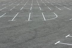 Markings on the car parking Stock Photography