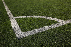 Markings of a football field Stock Photography