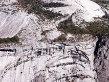 Markings On Mountain Wall. Taken from Glacier point,markings on mountain wall across the valley,Yosemite National Park,California Royalty Free Stock Image