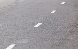 Markings on the road as a background. texture.  Stock Images