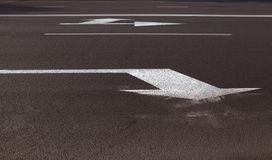 Markings on the road. Photographed markings on the road, which regulates the movement of participants Royalty Free Stock Photo