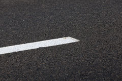 Markings on the road. Photographed markings on the road, which regulates the movement of participants Stock Photos