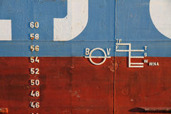 Markings on ship Royalty Free Stock Photography