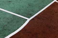 Markings on the stadium. Photographed close up with artificial coated markings on the stadium Royalty Free Stock Image