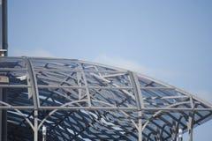 Markis som göras av metallstrukturer royaltyfria bilder