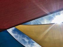 Markisen von Farben lizenzfreie stockfotos