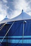 markiza błękitny namioty Fotografia Stock