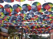 Markiza od słońca, robić parasole, na ulicie miasto Odessa, Ukraina obrazy stock