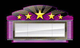 Markizy sztandaru czerń royalty ilustracja