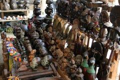 Marknad av hemslöjder, Douala, Kamerun Royaltyfri Bild