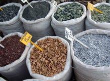 Marknad av stenar Arkivfoton