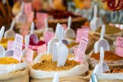 Marknad av varma kryddor Royaltyfria Bilder