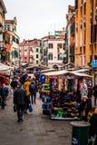 Marknad av Venedig, Venedig, Italien arkivfoto