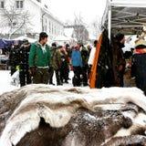 Marknad de Jokkmokk Fotos de archivo
