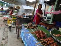 Marknad för öppen luft, Luang Prabang, Laos royaltyfria foton
