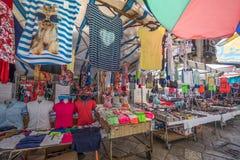 Marknad för öppen luft, Palermo, Italien Arkivfoton
