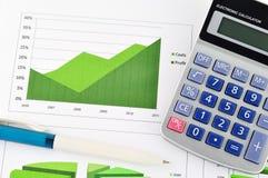 marknad för affärsdiagram arkivfoton