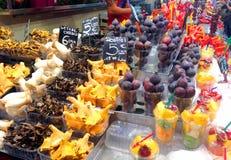 marknad för barcelona boqueriala Arkivfoto