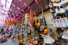 Marknad för gata för Aracaju handhantverk royaltyfria bilder
