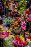 Marknad för konstgjord blomma i Ho Chi Minh, Vietnam, asia arkivfoton