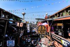 Marknad för konstljusblomma Royaltyfri Foto