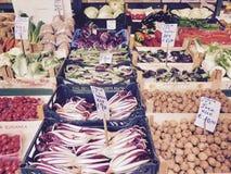Marknad för ny grönsak Arkivfoto