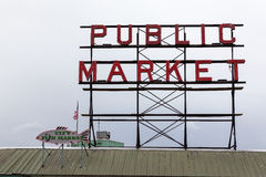 Marknad för pikställe, Seattle, Washington Arkivbild