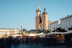 Marknad för Rynek fyrkantjul Arkivbilder