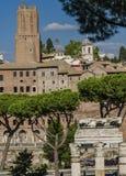 Marknad för Trajan ` s i Rome, Italien arkivfoto