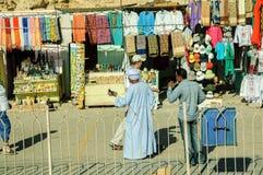 Marknad för turister nära den Hatshepsut templet egypt Arkivfoton
