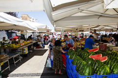 Marknad i Civitavecchia Royaltyfria Foton