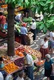 Marknad i Funchal, Madeira Arkivbilder