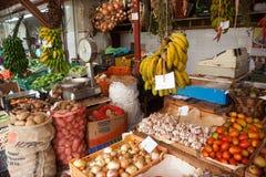 Marknad i Funchal, Madeira Fotografering för Bildbyråer