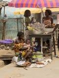 Marknad i Ghana royaltyfri foto