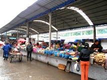 Marknad i Kina Arkivfoto