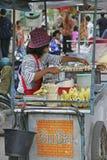 Marknad i Mae Sai, Thailand Arkivbilder