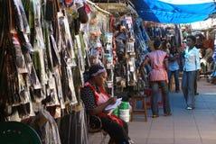 Marknad i Maputo Arkivfoton