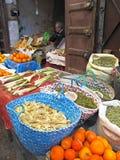 Marknad i Marocko Arkivbild