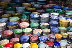 Marknad i Marrakech Arkivbilder