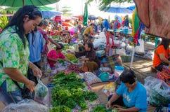 Marknad i morgonen Arkivfoto