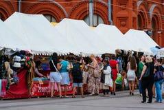 Marknad i Moskva Arkivfoto
